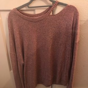 Sweaters - Brand-new pinkish/grey one shoulder sweater